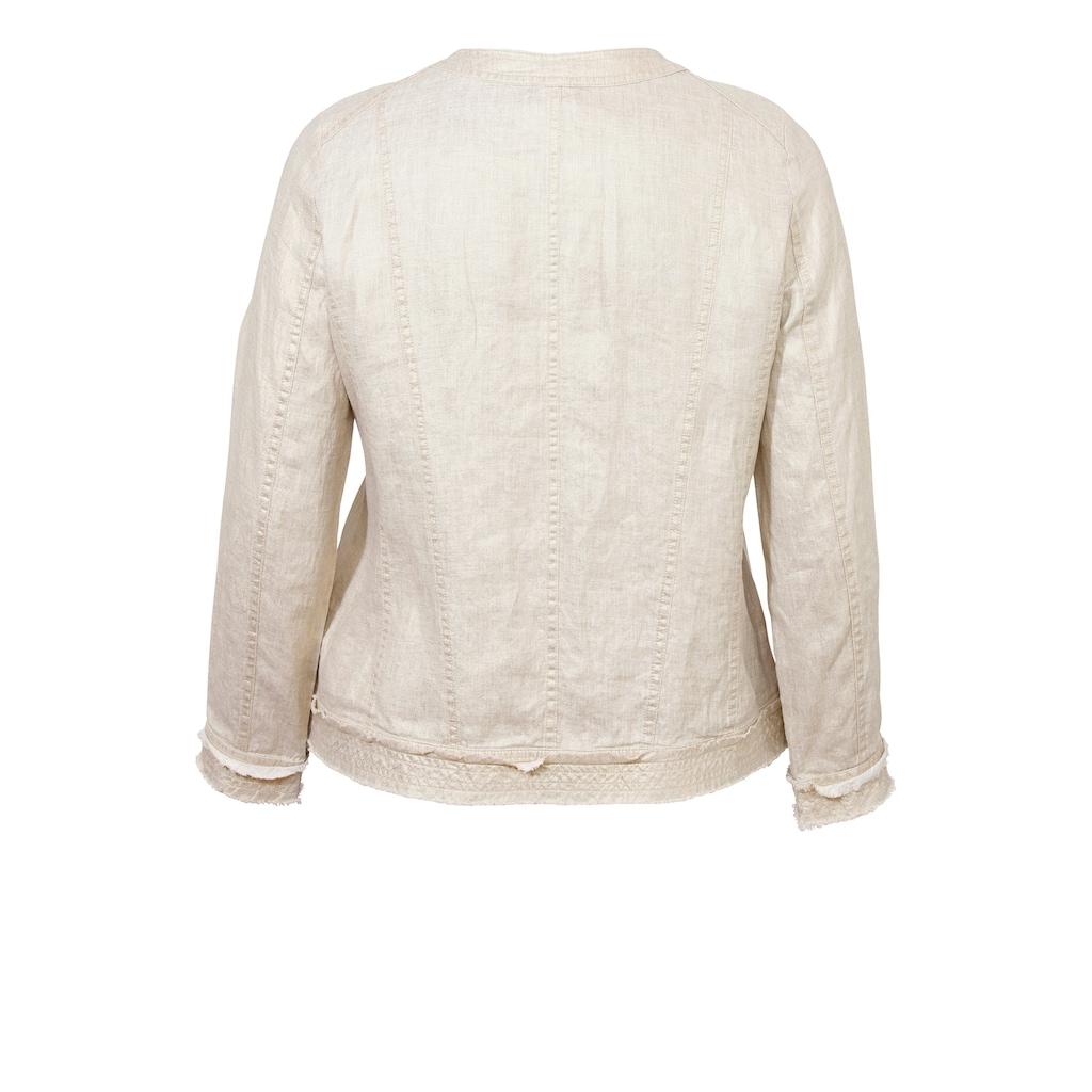 VIA APPIA DUE Schimmernde Jacke im Used-Look