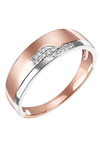 Firetti Diamantring »Feminin, Bicolor-Optik, teilw. rhodiniert, Glanz, massiv«, mit... kaufen