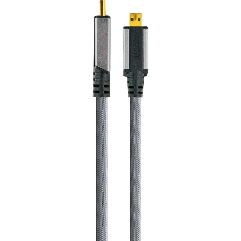 Schwaiger Highspeed HDMI Kabel mit Ethernet, 4K, Full HD, 3D, Ultra HD »mit Micro HDMI Stecker«