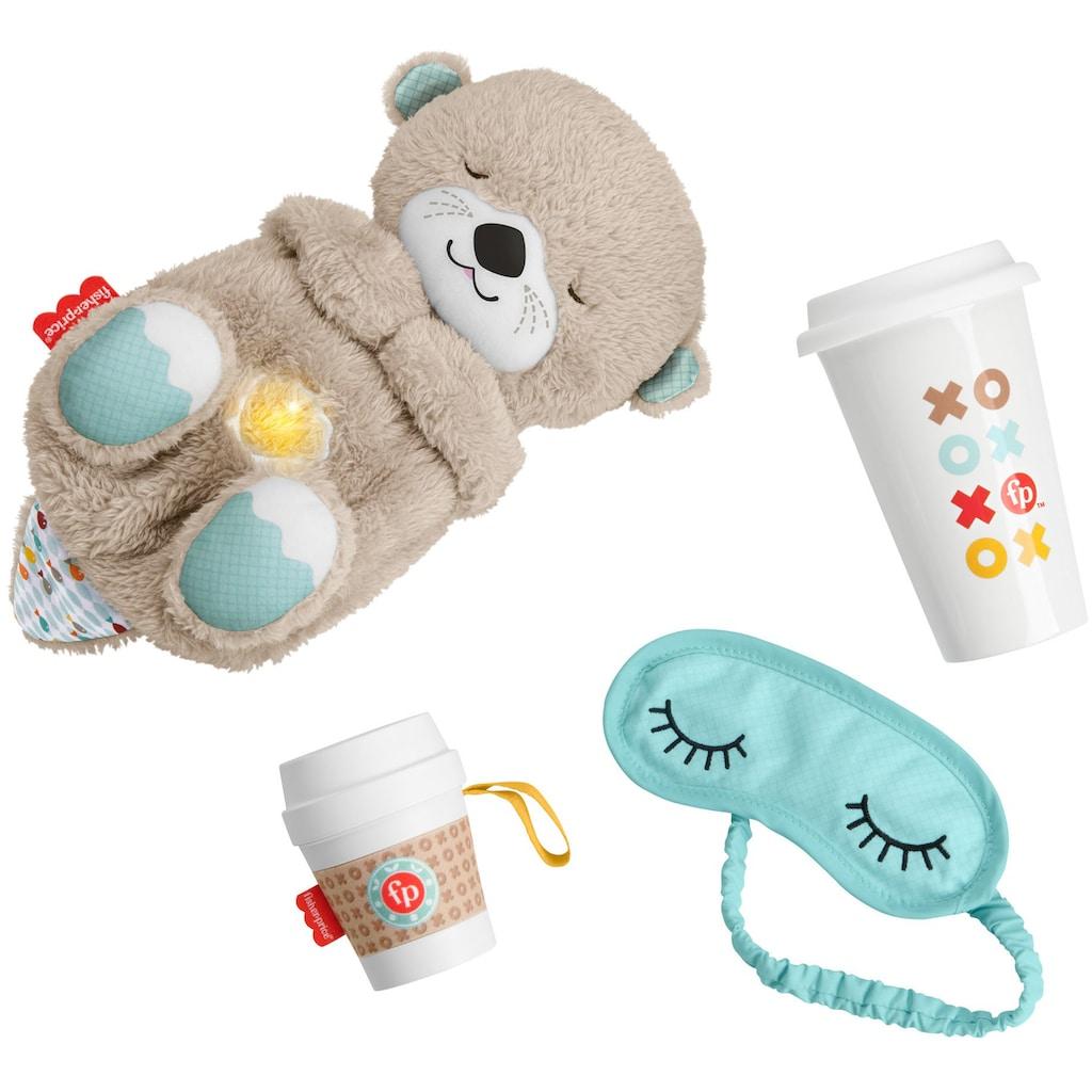Fisher-Price® Einschlafhilfe »Schlummer-Otter Geschenkset«, Otter mit Sanftem Licht; Inklusive Schlafmaske + Becher für die Eltern sowie Beißhilfe für das Baby