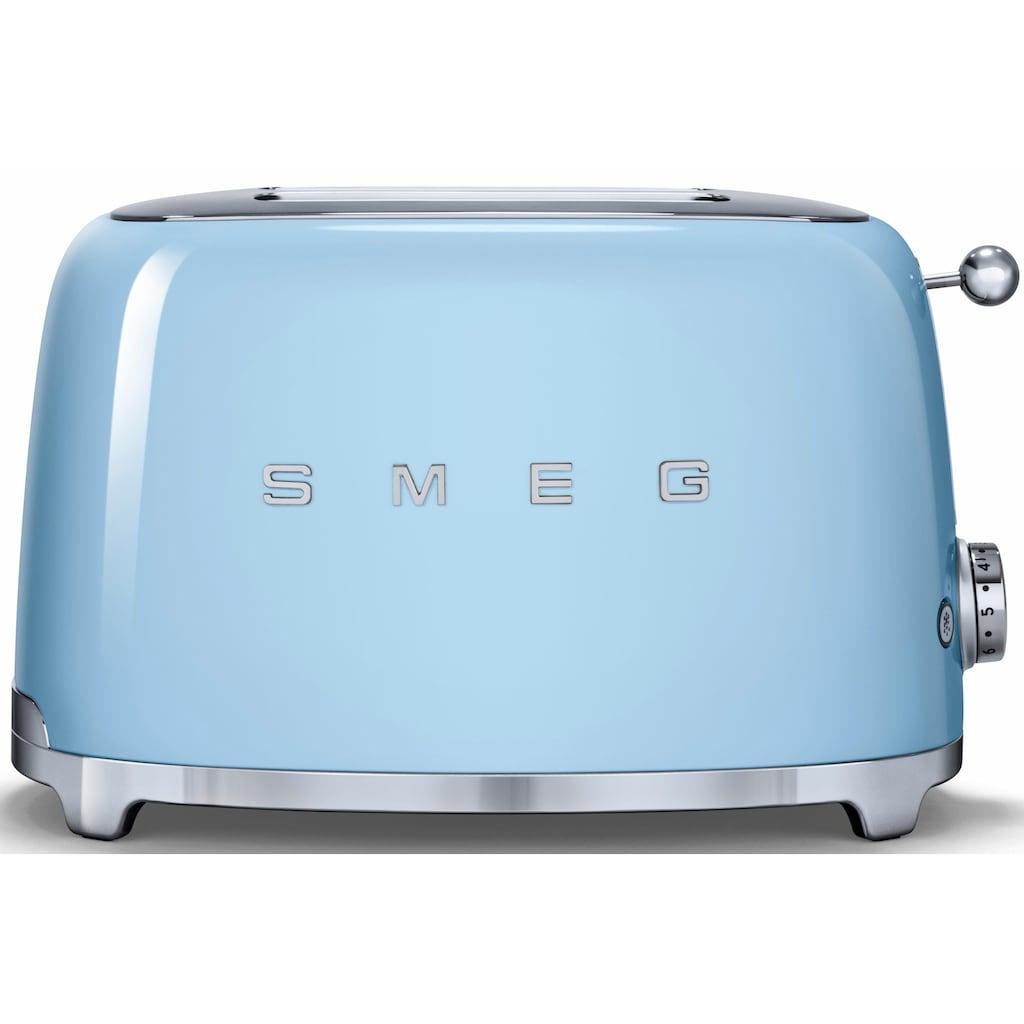 Smeg Toaster »TSF01PBEU«, 2 kurze Schlitze, für 2 Scheiben, 950 W