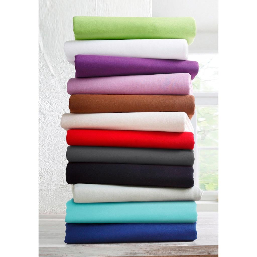 bellana Spannbettlaken »Mako-Jersey«, aus reiner Baumwolle