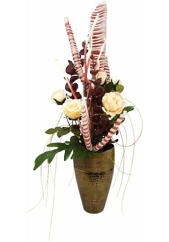 I.GE.A. Kunstpflanze »Arrangement Rosen in Vase« (1 Stück) kaufen