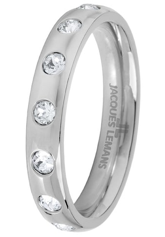 Jacques Lemans Fingerring »S-R60A52,54,56,58«, mit Kristallstein kaufen