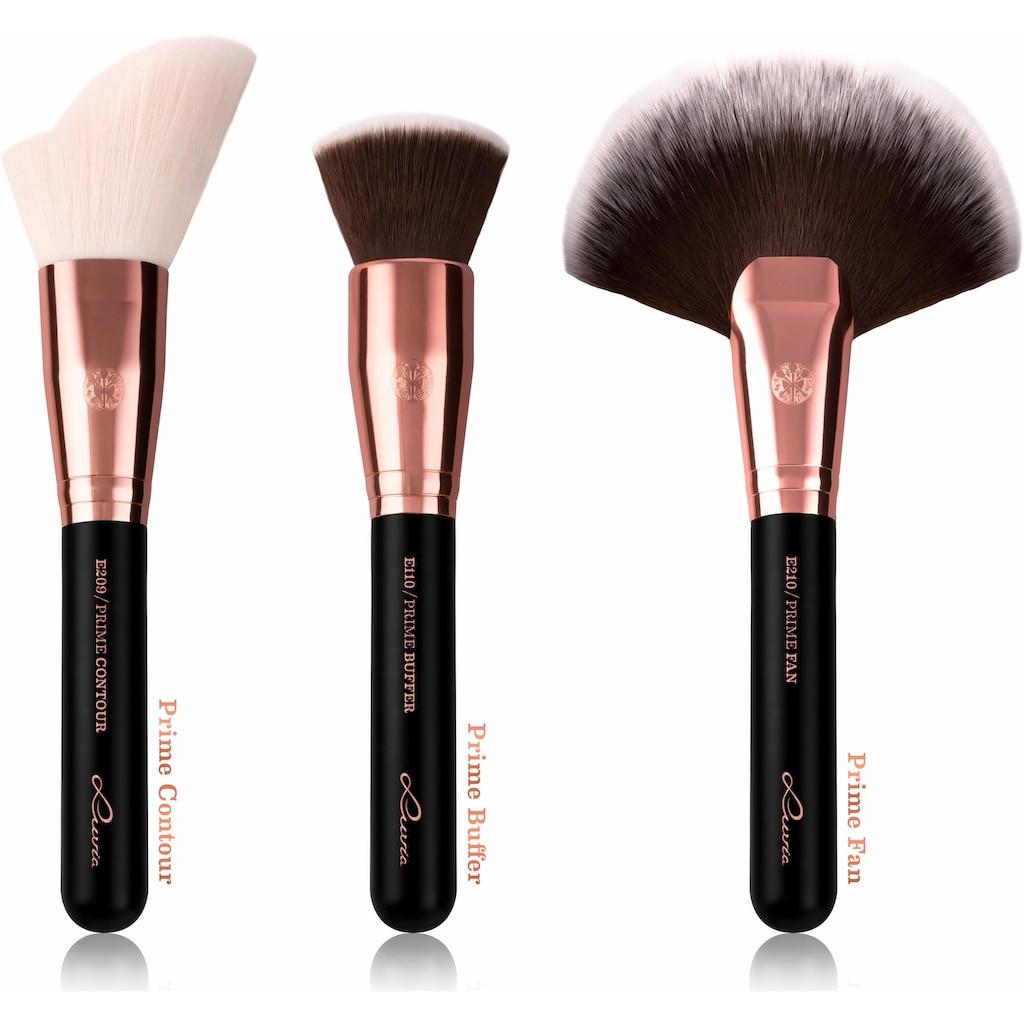 Luvia Cosmetics Kosmetikpinsel-Set »Essential Brushes - Black Diamond«, (15 tlg., inkl. Pinseltasche), vegan