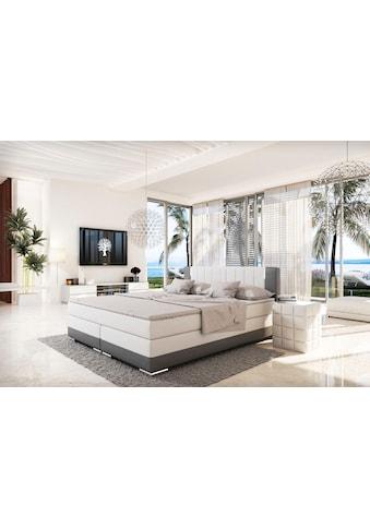 SalesFever Bett, LED-Beleuchtung im Kopfteil, Lounge Bett inklusive Visco-Topper kaufen