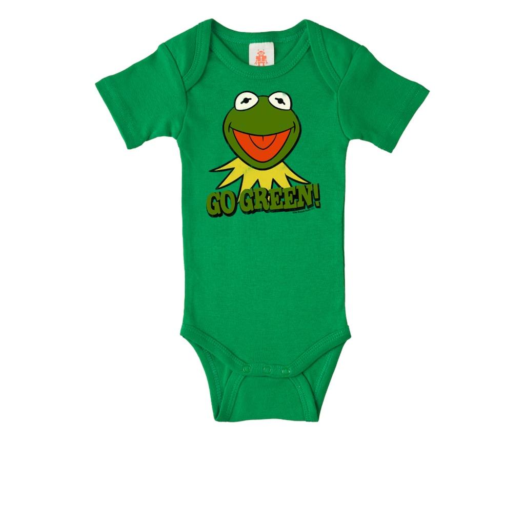 LOGOSHIRT Baby-Body mit Kermit der Frosch-Frontdruck
