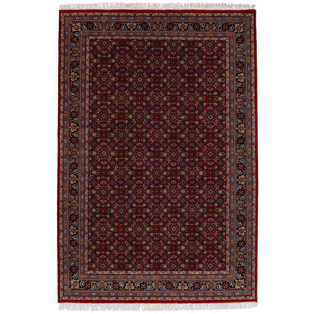 THEKO Orientteppich »Benares Herati«, rechteckig, 12 mm Höhe, reine Wolle, handgeknüpft, mit Fransen, Wohnzimmer