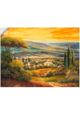 Artland Wandbild »Toskanatal«, Europa, (1 St.), in vielen Größen & Produktarten -... kaufen