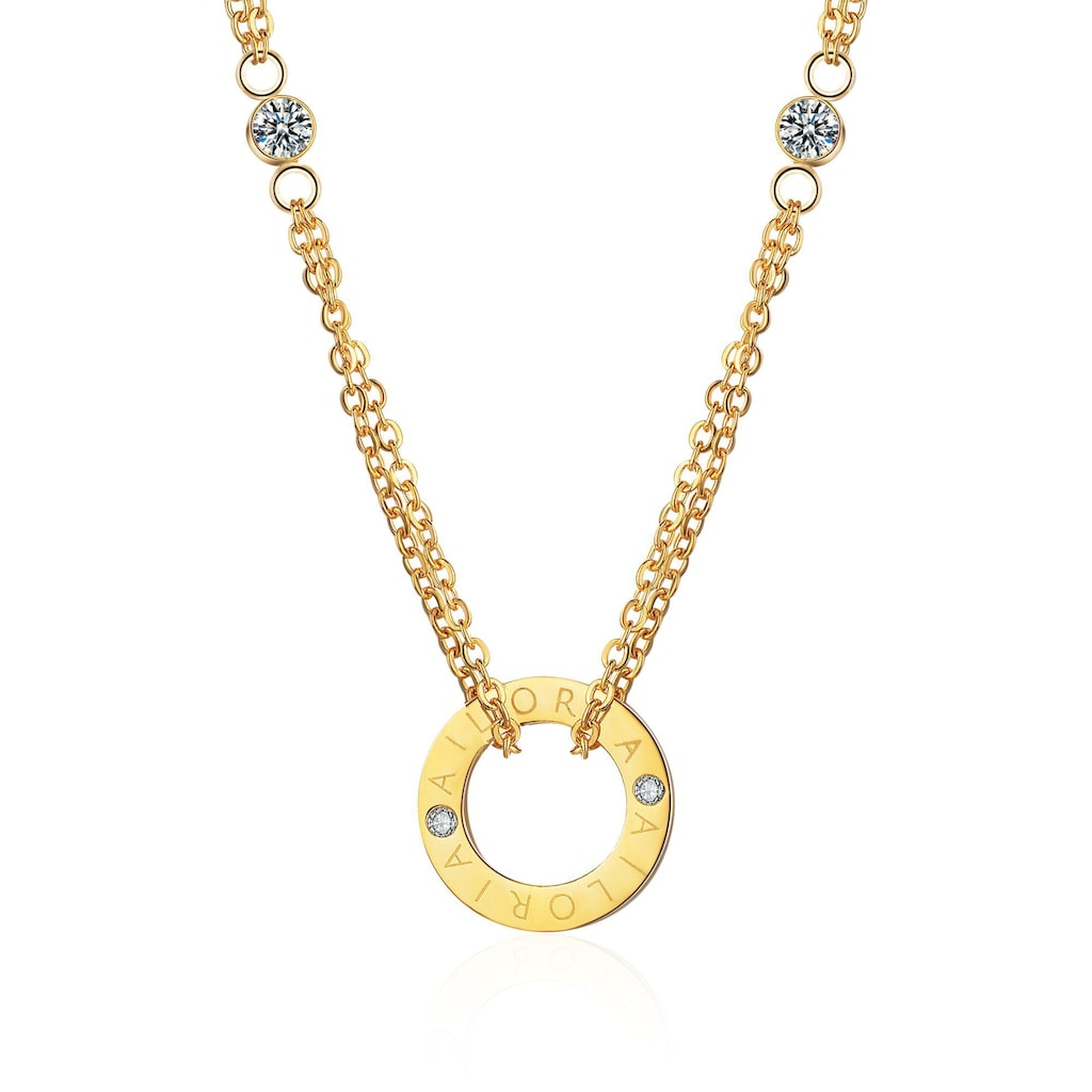 AILORIA Kette mit Anhänger »APOLLINE Halskette Gold«, Hochglanz-Finish