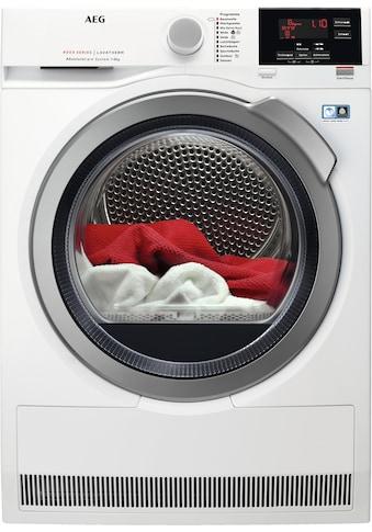 AEG Wärmepumpentrockner »LAVATHERM T8DBA3«, 8000 LAVATHERM, AbsoluteCare für Wolle, Seide, Outdoor kaufen
