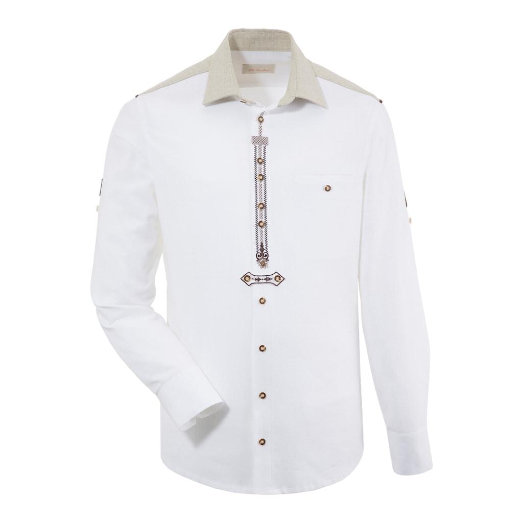 OS-Trachten Trachtenhemd, in Leinenoptik