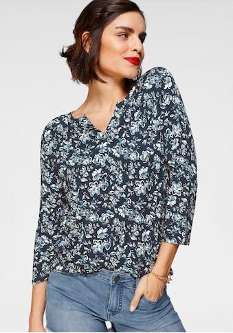 Tamaris Henleyshirt, mit ausdrucksstarkem Print kaufen
