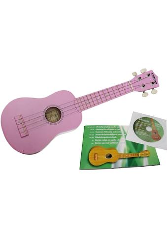 Clifton Ukulele »Sopran Ukulele mit Buch und CD, rosa« kaufen