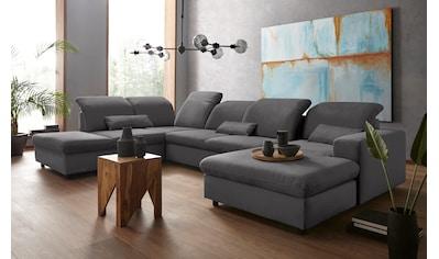 sit&more Wohnlandschaft, Inklusive Sitztiefenverstellung, wahlweise mit Bettfunktion... kaufen