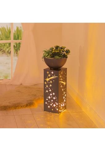 EASYmaxx LED Dekolicht »Ginko«, 1 St., Warmweiß, In- und Outdoor, EASYmaxx LED-Dekosäule Rost-Optik, 59 cm kaufen