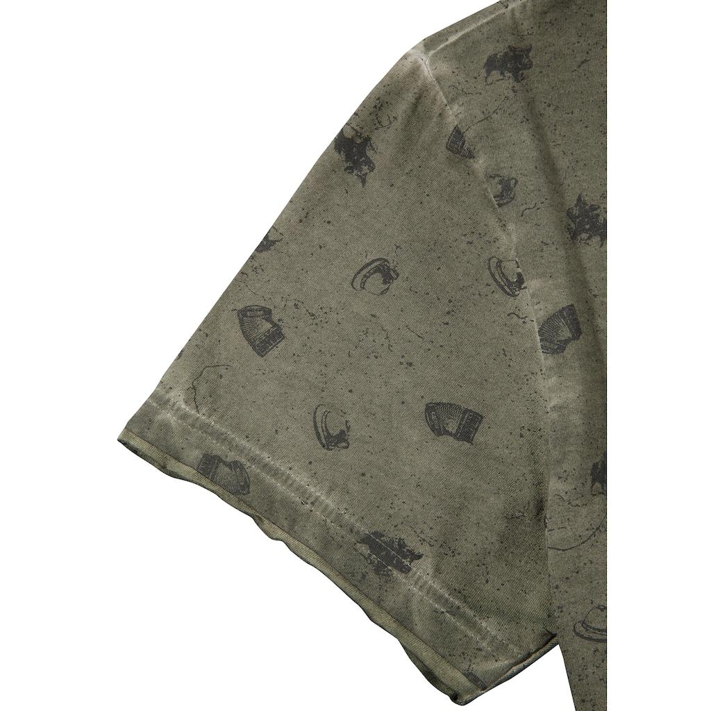 Hangowear Trachtenshirt, mit Printelementen