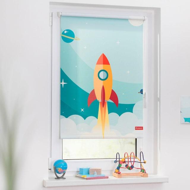 Seitenzugrollo »Klemmfix Digital Rakete«, LICHTBLICK, verdunkelnd, ohne Bohren, freihängend