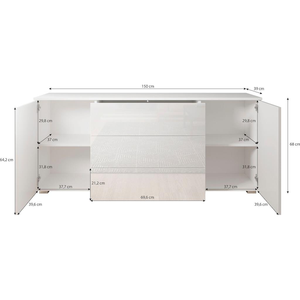 my home Sideboard »PARIS«, Breite 150 cm