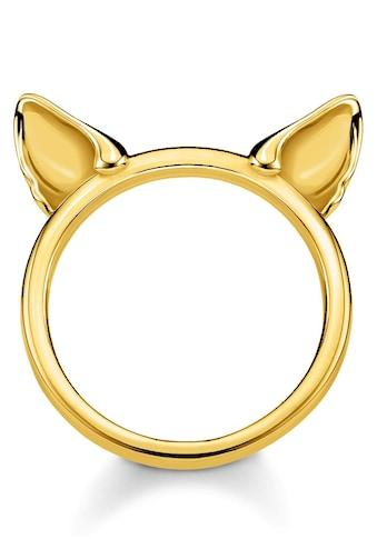 THOMAS SABO Fingerring »Katzenohren gold, TR2260-413-39-48, 50, 52, 54, 56, 58, 60« kaufen
