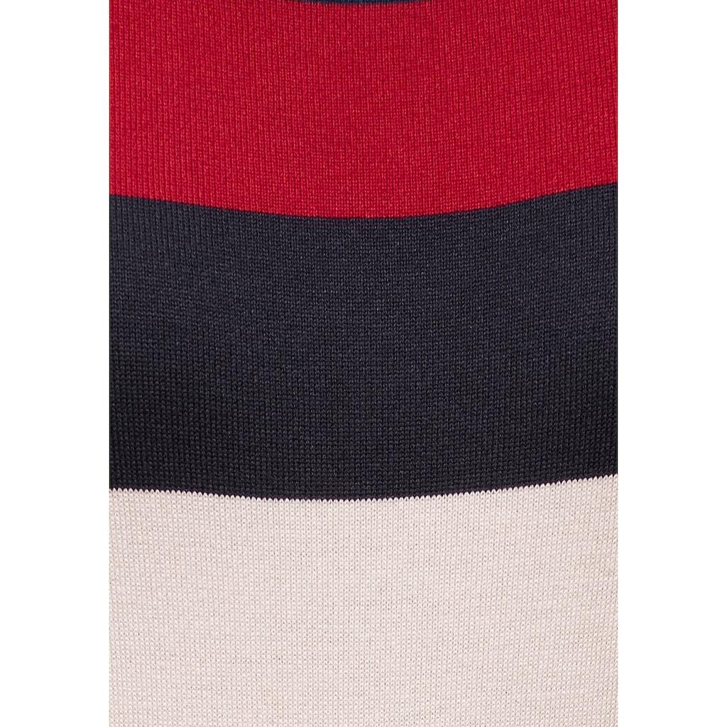 TOM TAILOR Polo Team Streifenpullover, im besonderen Streifen-Look