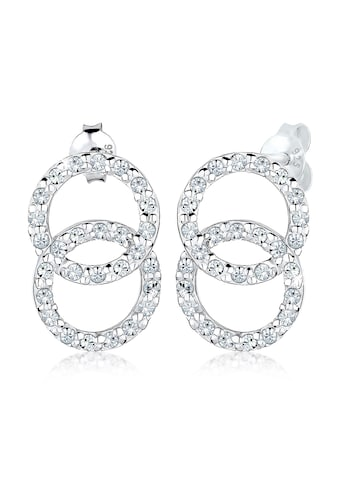 Elli Paar Ohrstecker »Kreis Geo Trend Swarovski® Kristalle 925 Silber« kaufen