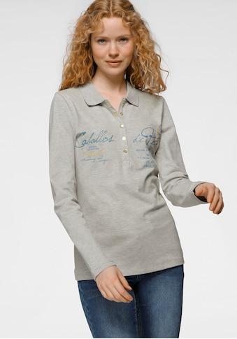 TOM TAILOR Polo Team Langarm-Poloshirt, mit aufwendigen Details - NEUE KOLLEKTION kaufen