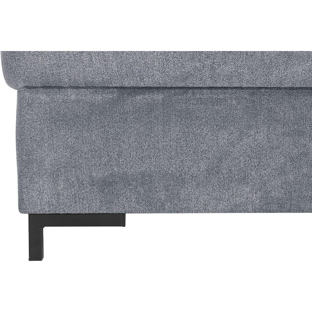 DOMO collection Ecksofa »Ledas«, mit extrabreiten Armteilen, wahlweise mit Bettfunktion