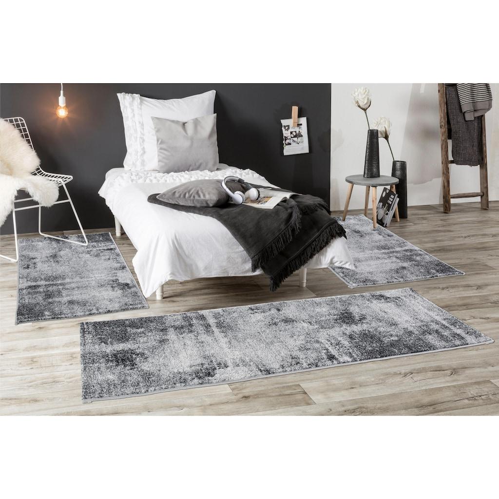 Andiamo Bettumrandung »Luna«, Bettvorleger, Läufer-Set für das Schlafzimmer, Kurzflor, gewebt