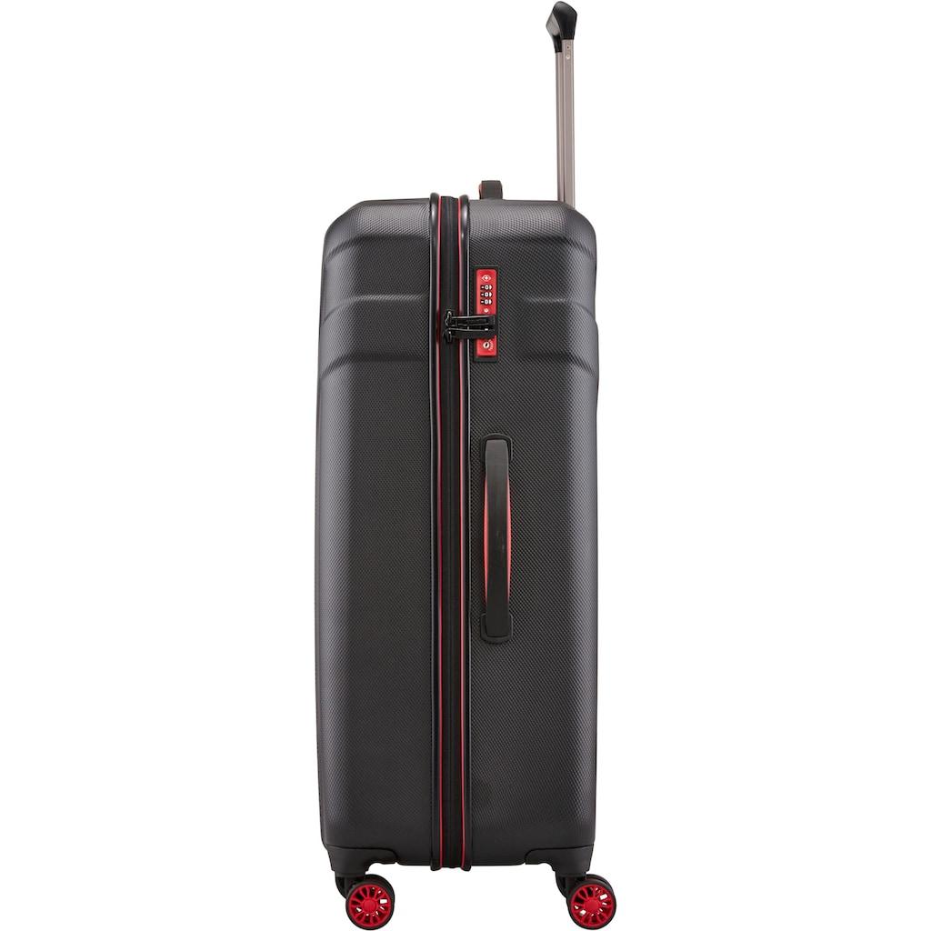 travelite Hartschalen-Trolley »Vector, 77 cm, schwarz«, 4 Rollen