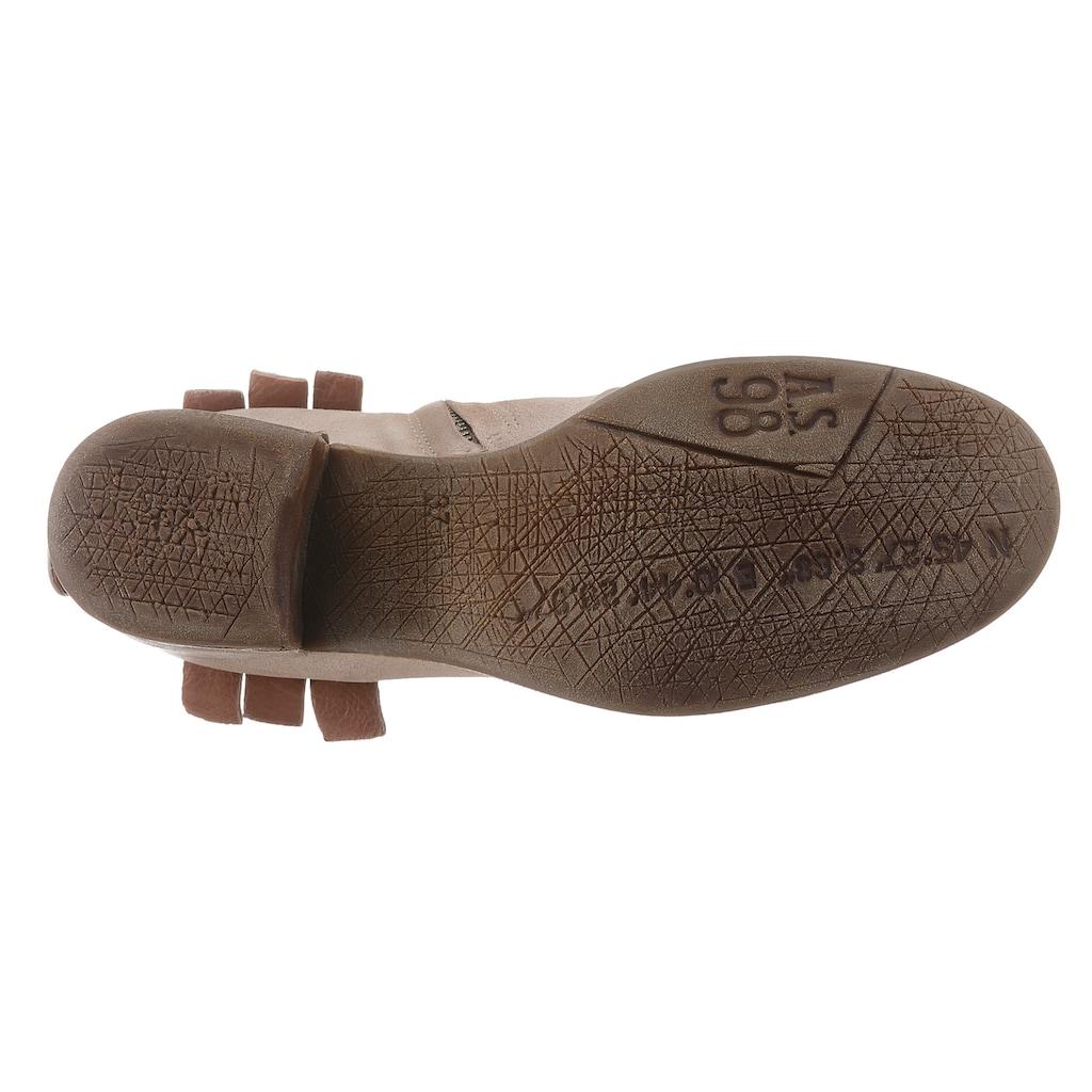 A.S.98 Stiefelette »GIVE«, mit modischem Flechtmuster