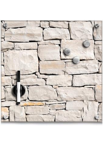 Home affaire Magnettafel »Stone«, Memoboard, aus Glas, Stein Motiv kaufen