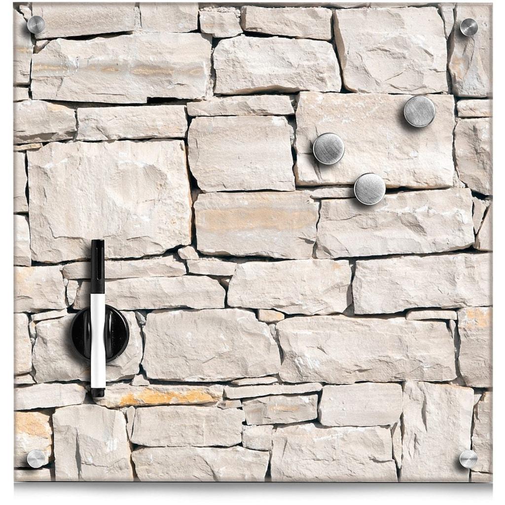 Zeller Present Magnettafel »Stone«, Memoboard, aus Glas, Stein Motiv