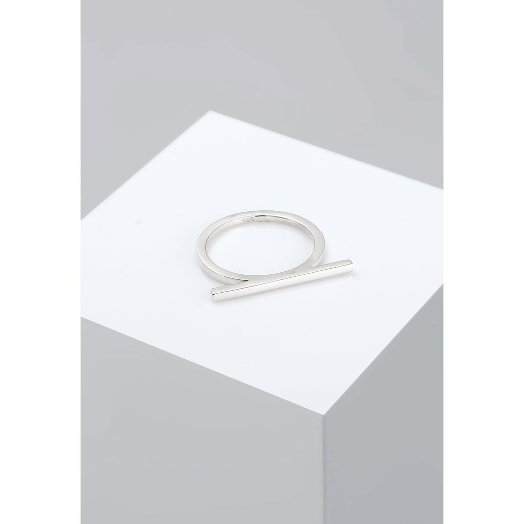 Elli Fingerring »Geo Minimal Trend Steg 925 Silber«