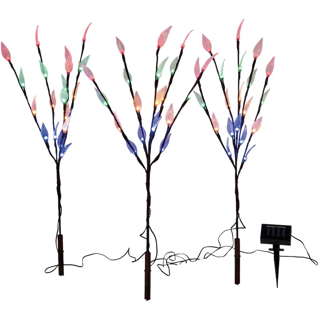 näve LED Gartenleuchte »Erdspieß«, 1 St., 3er-Set, Blinklichtfunktion