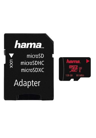Hama microSDXC 128 GB UHS Speed Class 3 UHS-I 80 MB/s + Adapter kaufen