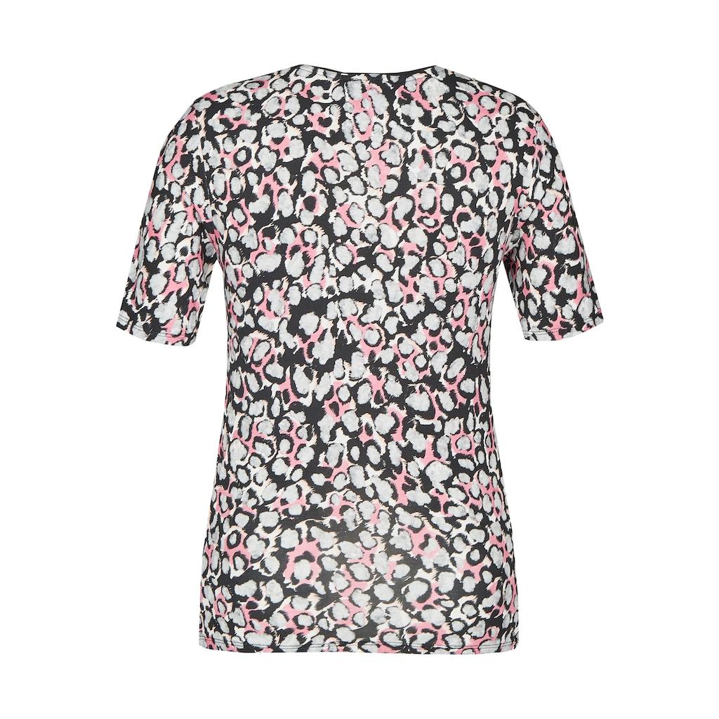 VIA APPIA Trendiges T-Shirt mit Leo-Muster