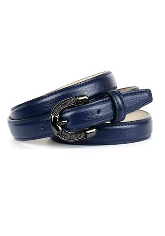 Anthoni Crown Ledergürtel, in schmaler Form, Schließe mit Metallgeflecht kaufen