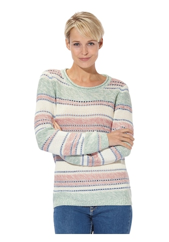 Casual Looks Pullover mit Ajourmuster kaufen