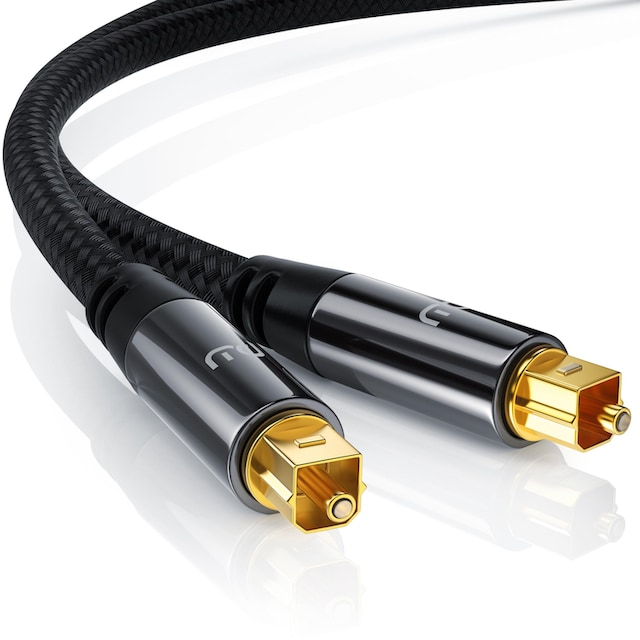 Primewire Toslink Kabel optisch / digital mit Metallstecker & Nylonmantel