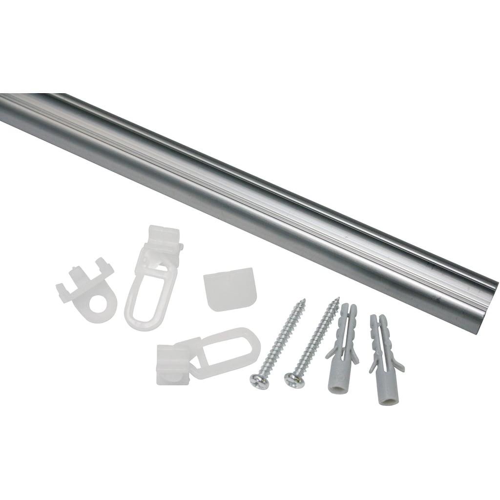 GARDINIA Gardinenschiene »Aluminiumschiene«, 1 läufig-läufig, kürzbar, Serie Aluminiumschiene Ø 13 mm