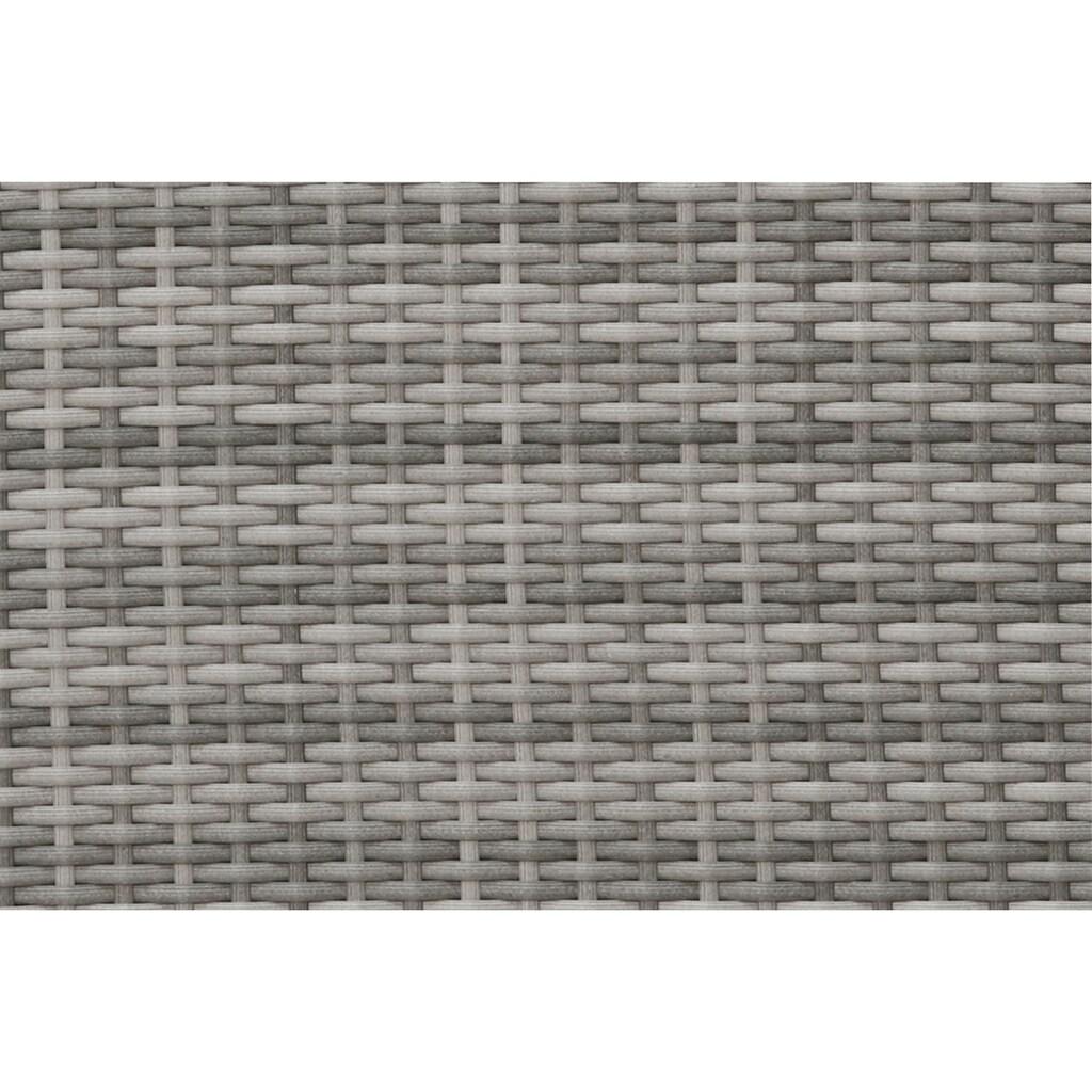 KONIFERA Loungeset »Singapur«, (9 tlg.), verstellbar, Polyrattan/Stahl, inkl. Auflagen