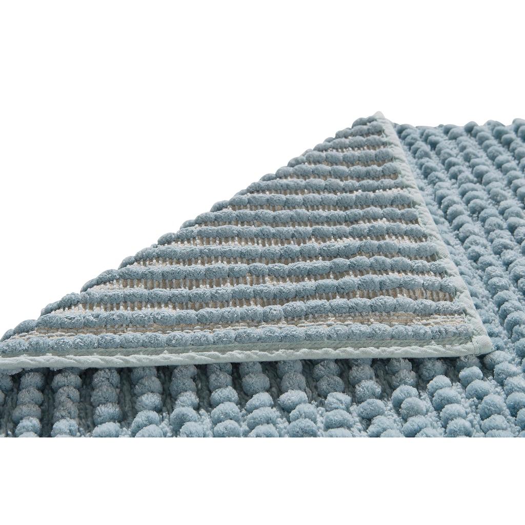 andas Badematte »Renat«, Höhe 15 mm, Badteppich, Badgarnitur in Pastell, waschbar, geeignet für Fußbodenheizung, schnell trocknend