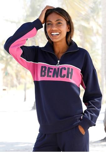 Bench. Sweatshirt »Contrast«, im Color-Blocking Design mit Logoprint kaufen