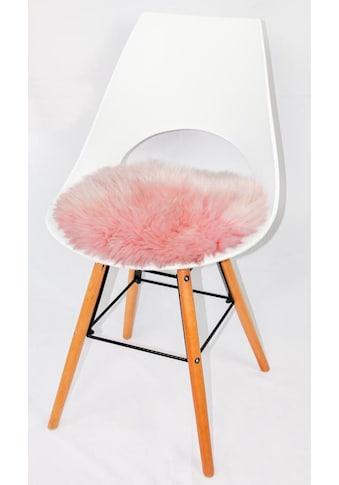 Heitmann Felle Stuhlkissen »Lamm, rund«, Sitzauflage, Sitzfell, rund, Ø 45 cm, echtes... kaufen