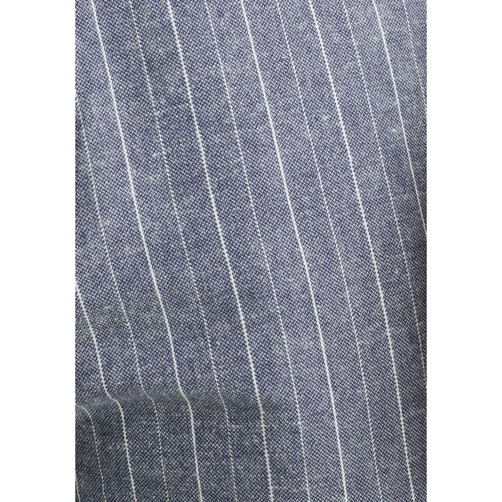 Esprit Leinenhose, mit Streifenmuster