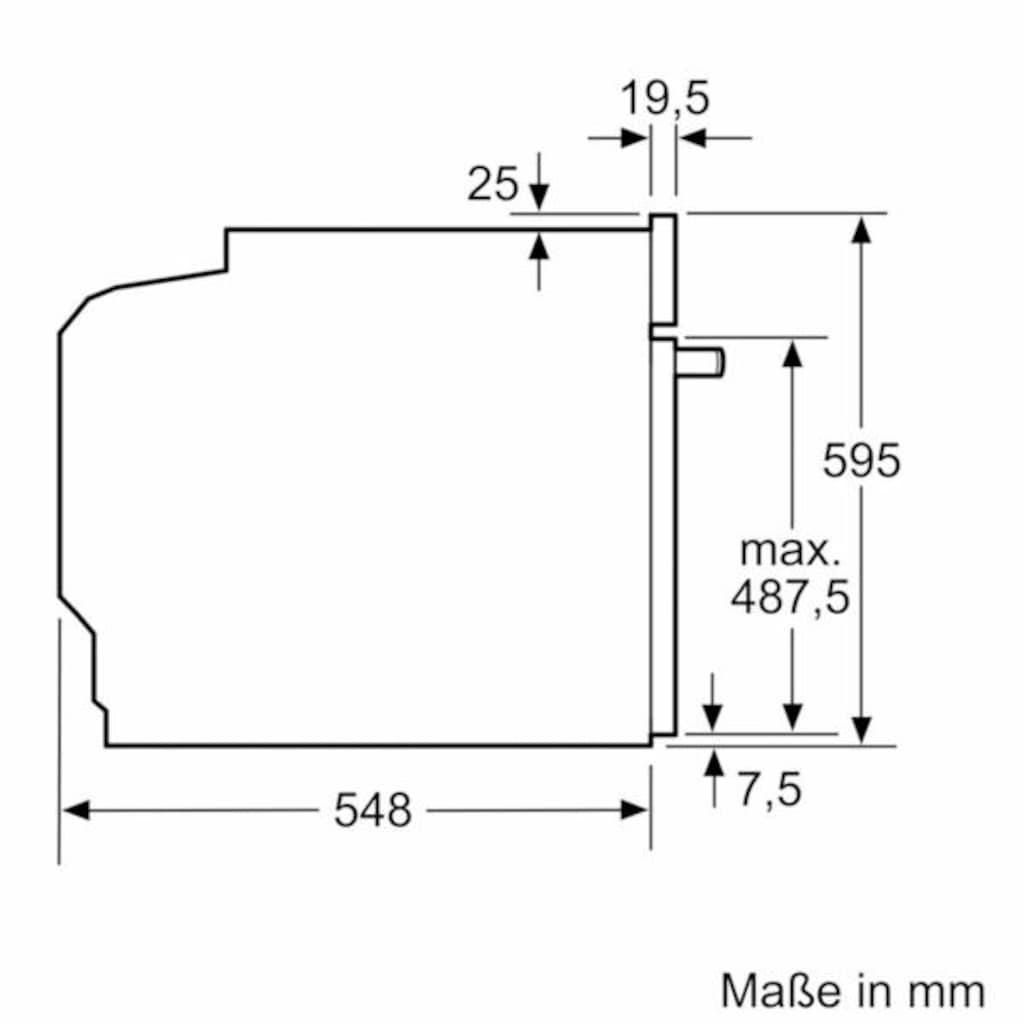 SIEMENS Einbaubackofen »HB517ABS0«, iQ500, HB517ABW0, mit cookControl-Funktion