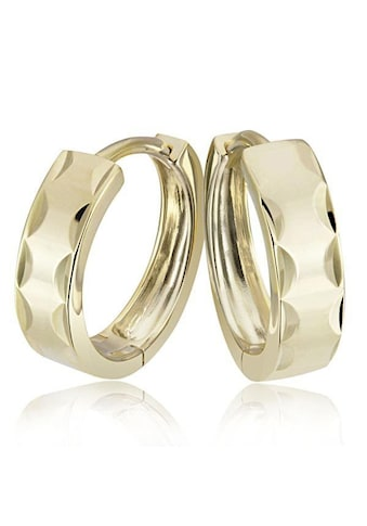 goldmaid Paar Creolen diamantiert 375/- Gelbgold kaufen