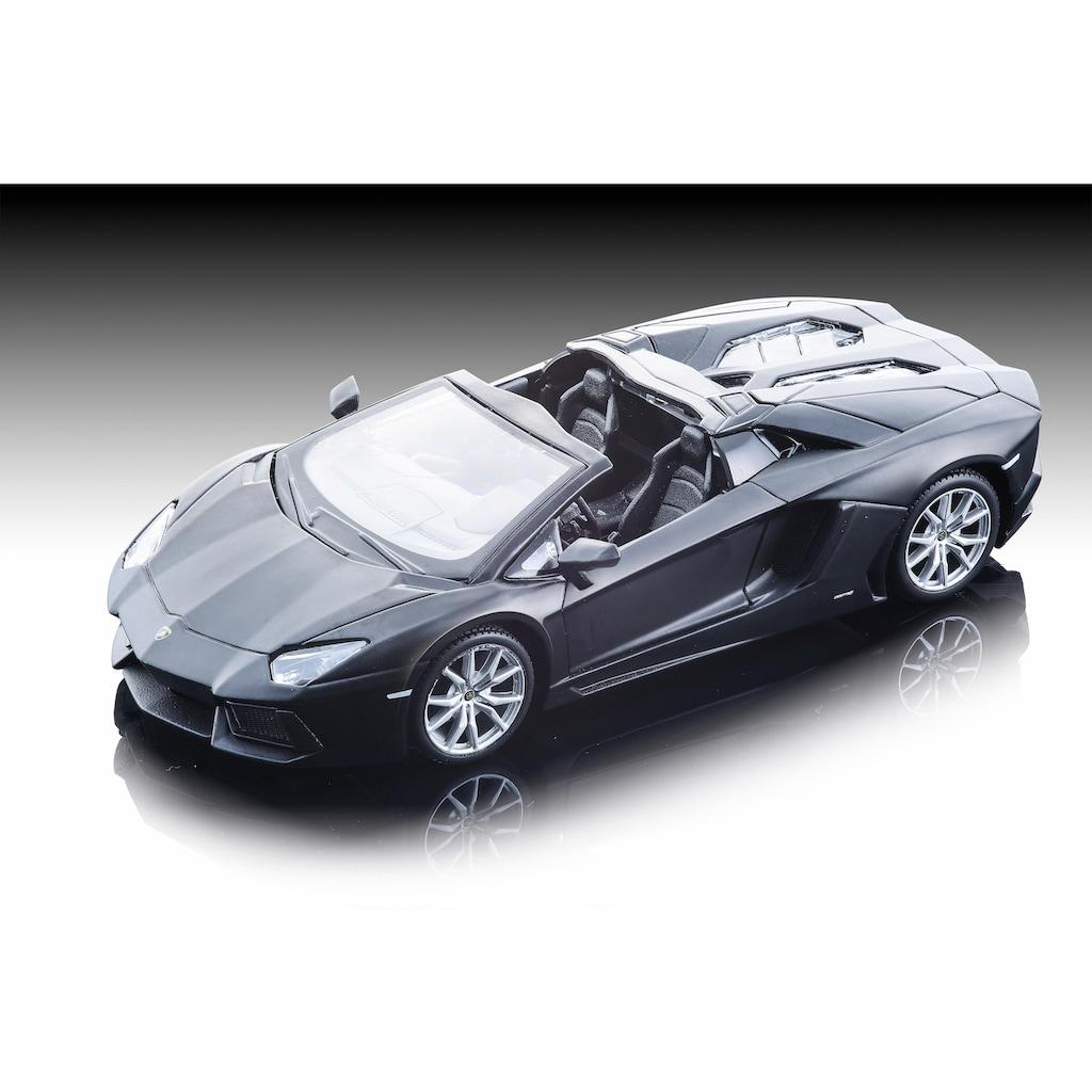 Maisto® Sammlerauto »Dull Black Collection, Lamborghini Aventador LP-700-4 Roadster, 1:24, schwarz«, 1:24, aus Metallspritzguss