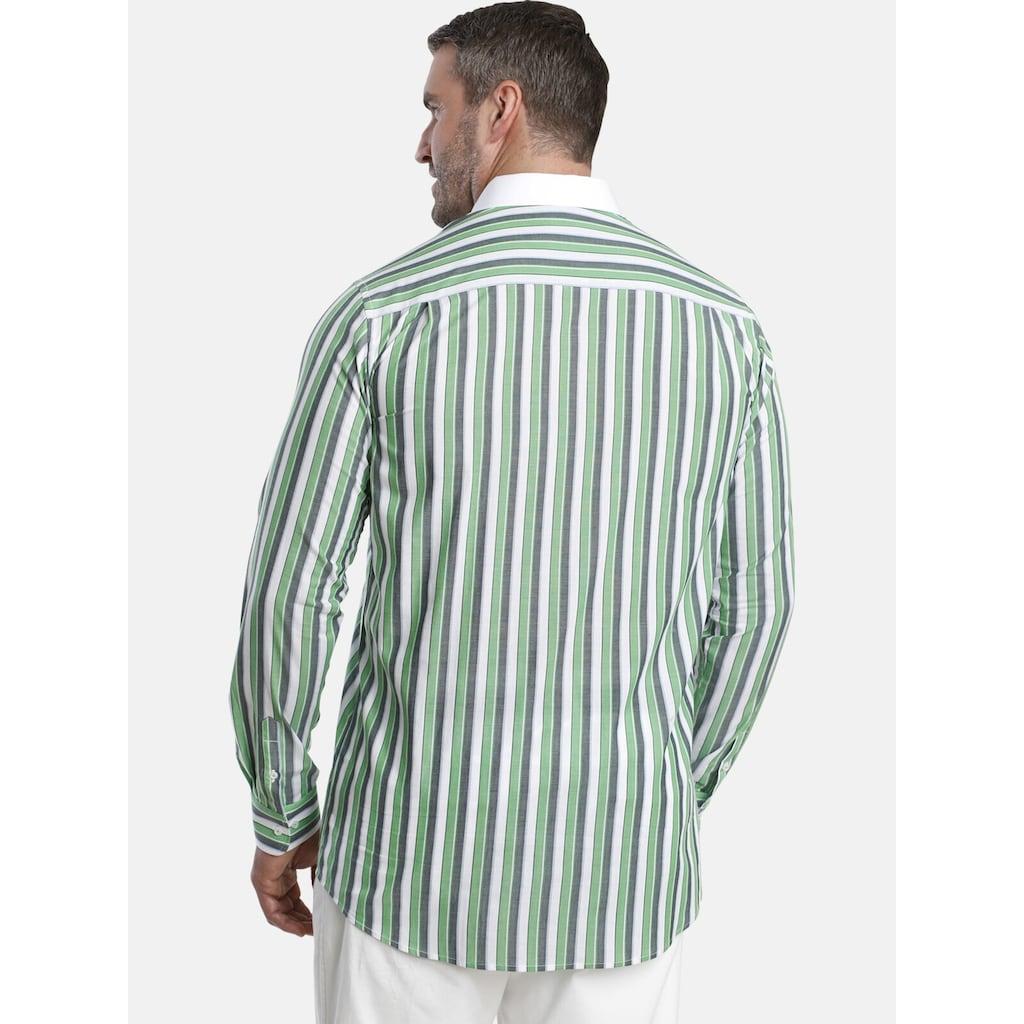 Charles Colby Langarmhemd »DUKE ELLIOT«, mit aufgesetztem Kragen in uni